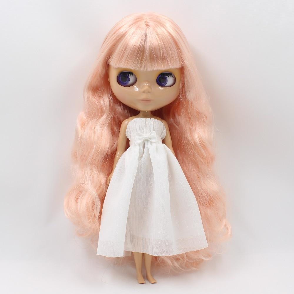 factory blyth doll bjd tan skin normal body golden pink hair tan skin with bangs/fringes 1/6 30cm BL10100519 цены