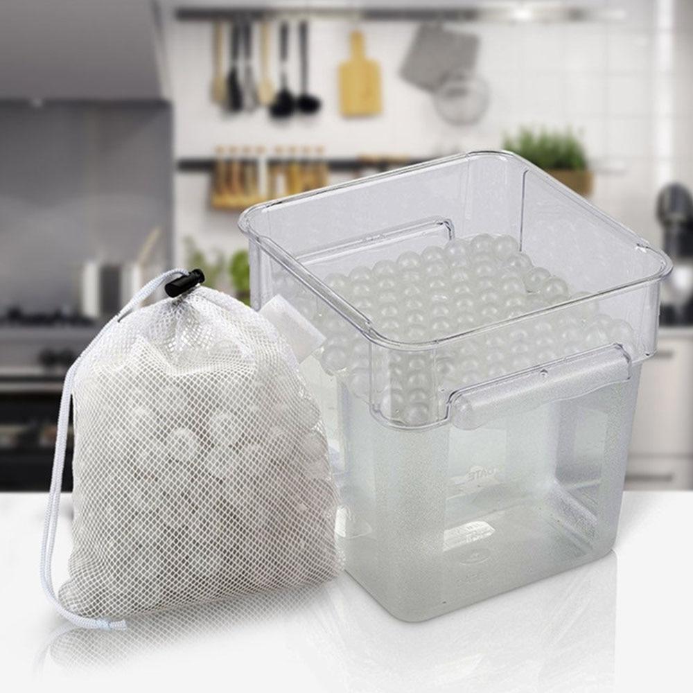 250 pcs/lot Sous Vide D'isolation Réutilisables Boules De L'eau Avec Séchage Sac Accueil Cuisine Cuisson Des Outils 20mm