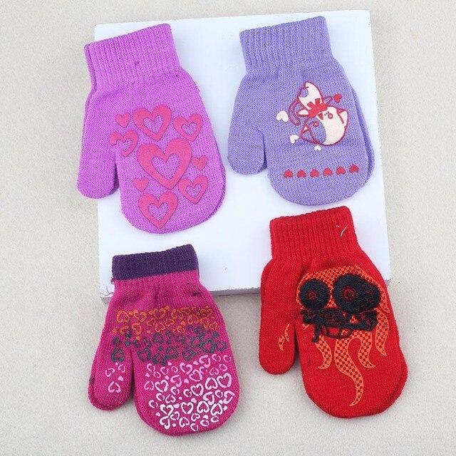 winter warm gloves children knitted mittens kids solid girls boy gloves stretch christmas gift boys 14cm - Christmas Mittens