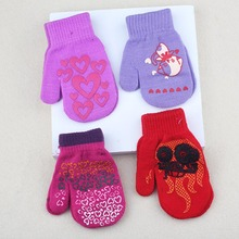 Winter Warm Gloves Children Knitted Mittens Kids Solid Girls boy Gloves Stretch Christmas gift Boys 14cm