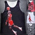 Мужчины Топы Сетки Дышащий Абсорбирующего 3D Жилет 23 Иордания Бандану Футболки Мода Лето майка жилет мужская Одежда