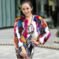 fashion style female genuine real natural raccoon fur short jacket for women hot selling best price multi color outweat coat