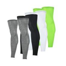 Anti UV de compresión Unisex para piernas, mallas deportivas transpirables para ciclismo, para correr, acampar, baloncesto, calentador de piernas
