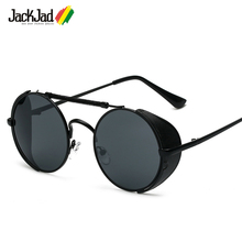 JackJad 2017 font b Fashion b font SteamPunk Rock Vintage Round Style Sunglasses Classic Retro Round