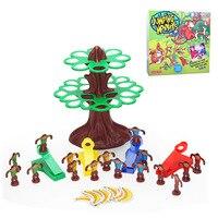 candice guo! Plastic toy jumping monkeys tree banana family fun desktop games happy jump monkey children gift 1pc