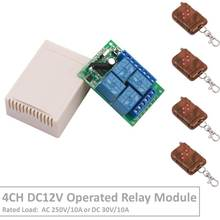 4 Channel 433Mhz DC12V Operated RF Relay Switch With Relay Receiver&Transmitter Remote Control Lamp Light For Intelligent Home vmc new air intelligent controller with relay control ventilation system