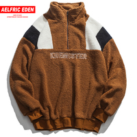 Aelfric Eden Cashmere Hoodies Sweatshirts Men 2018 Winter Thick Streetwear Color Block Pullover Casual Outwear Warm Hoodie FC39