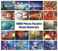 21 Types Puzzle 5000 Pieces wooden Jigsaw world famous Painting Adult Wood Puzzle 5000 pieces for home decorating