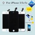 Испытание 100% AAA ЖК-Дисплей для iphone 5 5c 5s ЖК сенсорный Экран Завершена Замена Digitizer Ассамблеи Черный/Белый Бесплатная Доставка