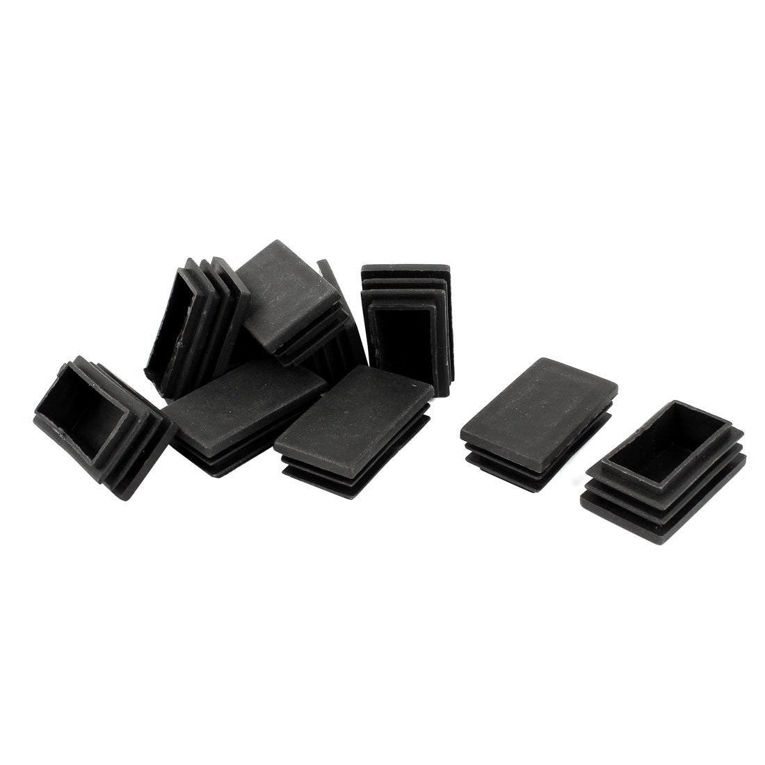 Plastic, Rectangular, With Cover End Pipe Plug 50 Mm X 30 Mm, 10 Pieces