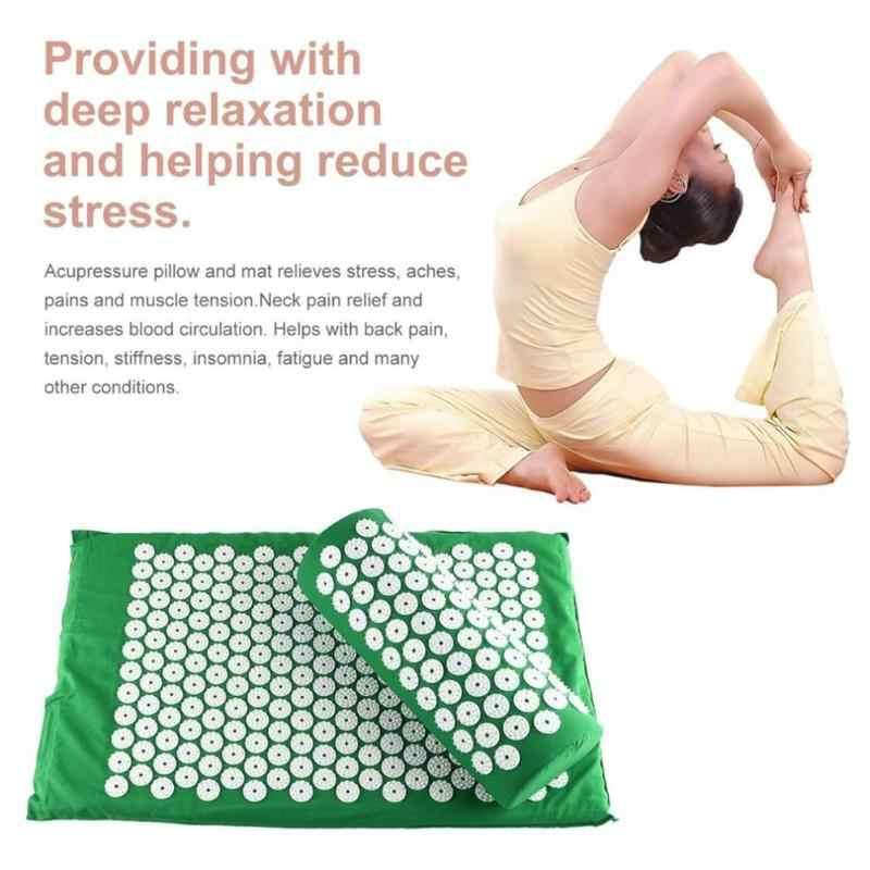 Akupunktur masaj minderi yastık Shiatsu Mat akupunktur masajı halı geri vücut yorgunluk rahatlatmak ağrı kesici Spike Pad