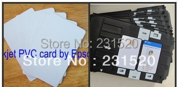ФОТО Blank Dual Side Inkjet Print ID cards  + card tray 1 pc for Epson Printer
