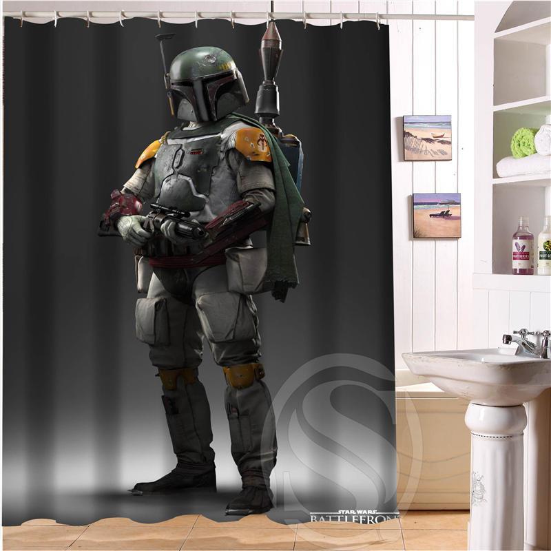 Buy Hot Sell Fashion Bath Curtains Star Wars Custom Shower Curtain Bathroom