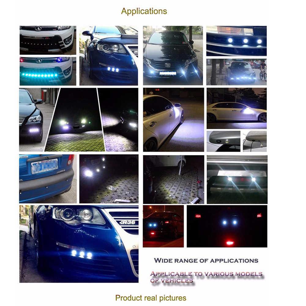 Geetans 1 Pcs Siang Hari Berjalan Lampu Sumber Cadangan Parkir Mundur Sinyal Lampu Tahan Air 18-23 Mm Hitam/Perak LED Mata Elang Di