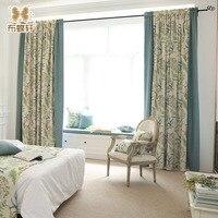ห้องนอนผ้าม่านสีทึบและดอกไม้ผ้าเย็บเฉดสีหน้าต่างผ้าลินินผ้าม่านห้องนั่งเล่นผ้าม่านแผ