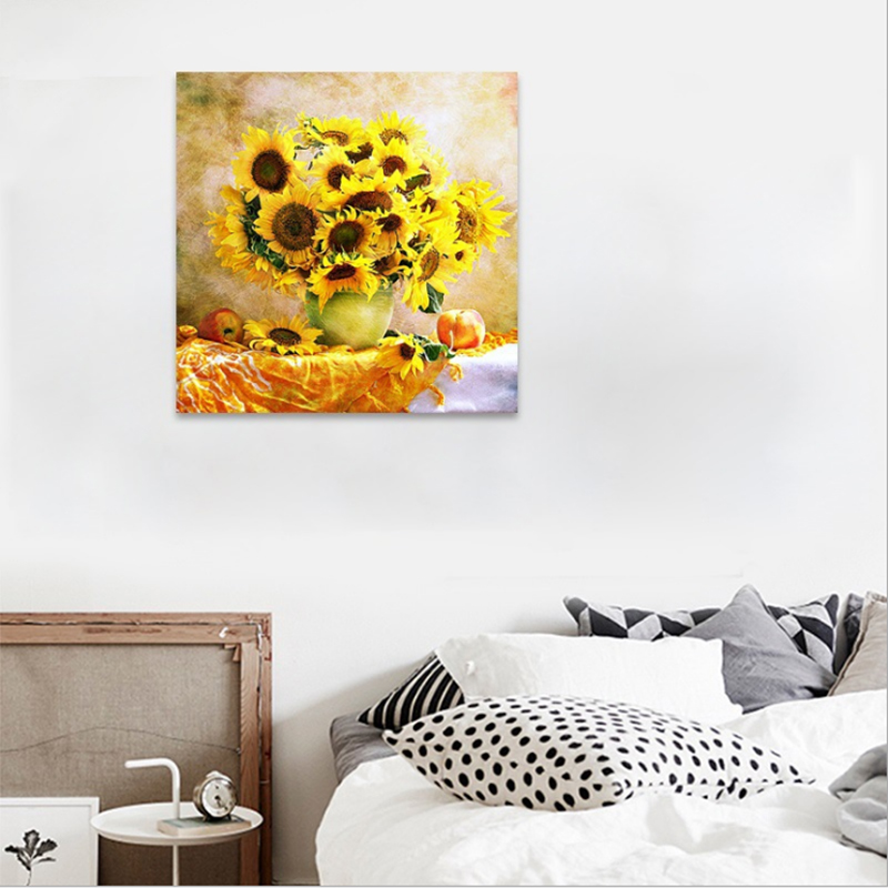 Sunflower Full Diamond Embroidery Flower 5D Diamond Painting Cross - Arts, Crafts and Sewing - Photo 2