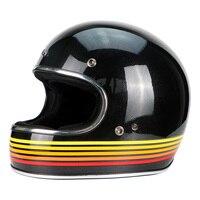 Веккио анфас винтажные гоночный мотоцикл шлем мотокросс мотоцикл Каско Capacete Jet Ретро harley стекловолокно шлем