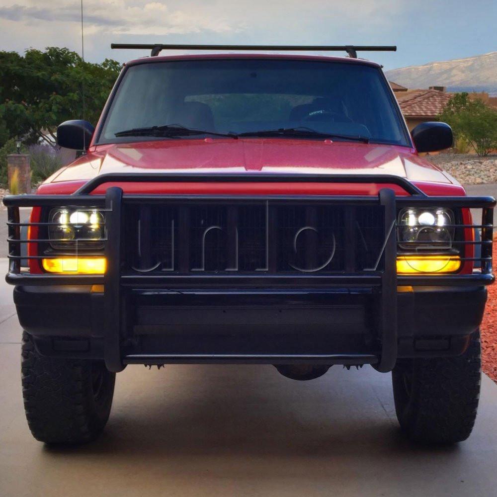 Black 5 X 7 LED Headlights Replacement for Jeep Cherokee XJ Trucks (8)