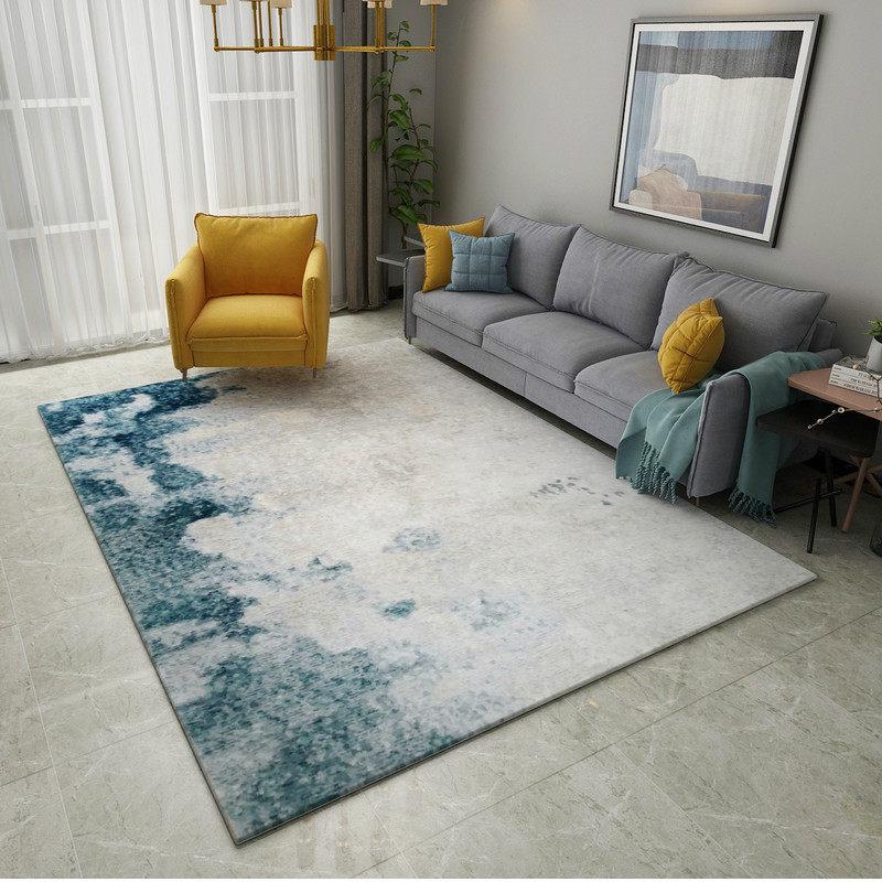Living Room Decorating Design Carpet Or Rug For Living: Abstract Ink Modern Carpets For Living Room Home Decor