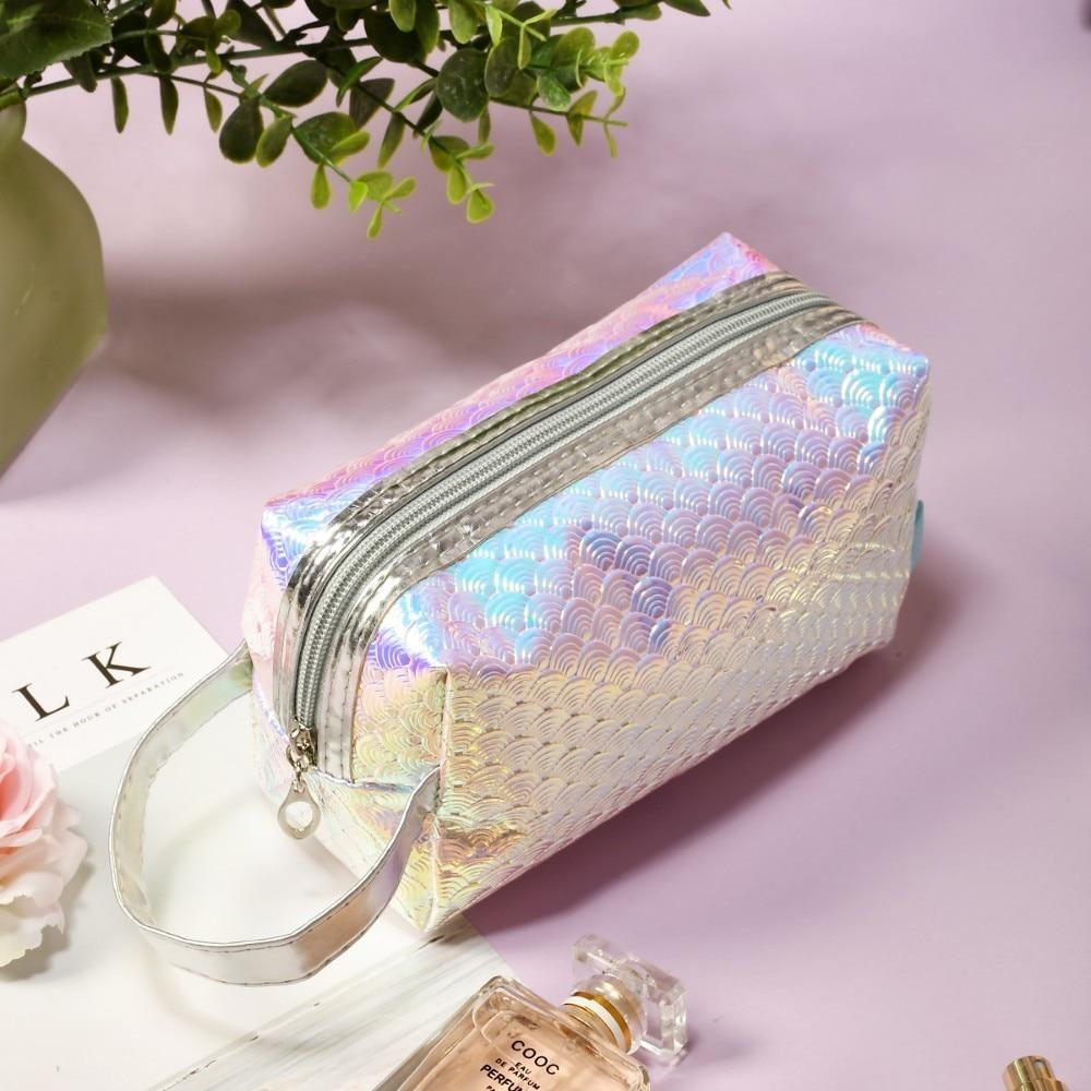 BEAUTYBIGBANG Women's Fashion Big Volume Unicorn Cosmetic Bag Mermaid Makeup Portable Pouch Nail Art Tool Holder Case
