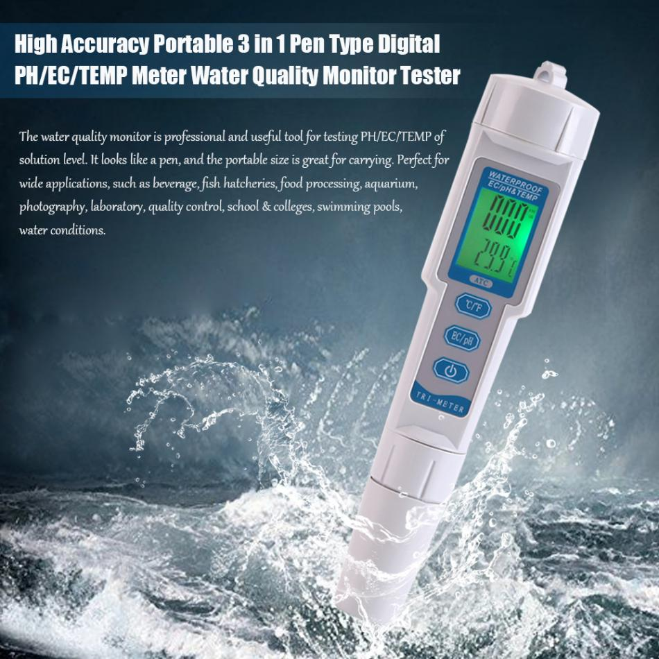 Function Of Conductivity Meter : Tds ph meter temperature tester pen in function