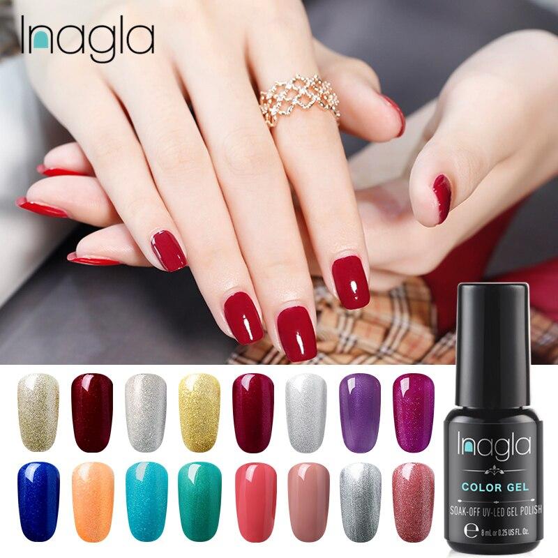 Inagla! Гель-лак One Step чистый Цвета 8 мл био-Гели Soak Off Маникюр УФ-гель Лаки DIY лак для ногтей украшение для ногтей
