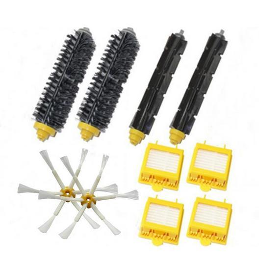 2 set main Brush + 2 side brush+4 hepa filter kit for iRobot Roomba 700 Series  760 770 780 790 vacuum cleaner accessories