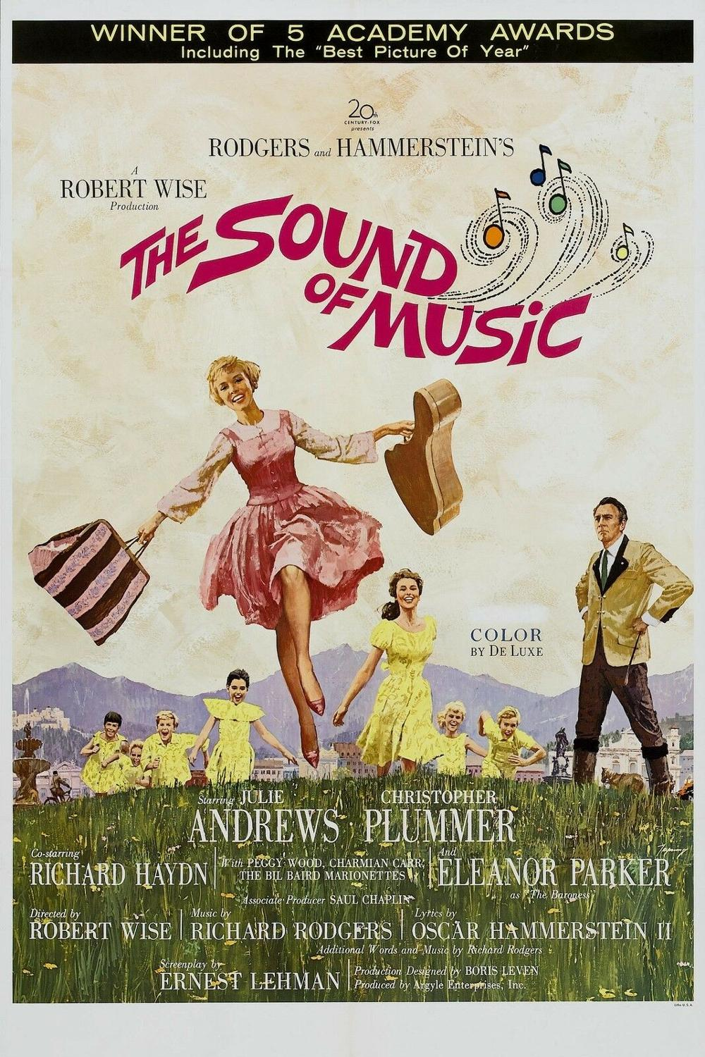 N0159 THE SOUND OF MUSIC Movie Wall Sticker Silk Fabric Poster Art Indoor Decor Bright image