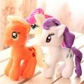 """1 pcs 7 """"18 cm Bonito Rainbow Cavalo Brinquedos Dos Desenhos Animados Brinquedos Hobbies Stuffed Dolls Filme TV Bichos De Pelúcia Plush Little Horse BaoLi"""