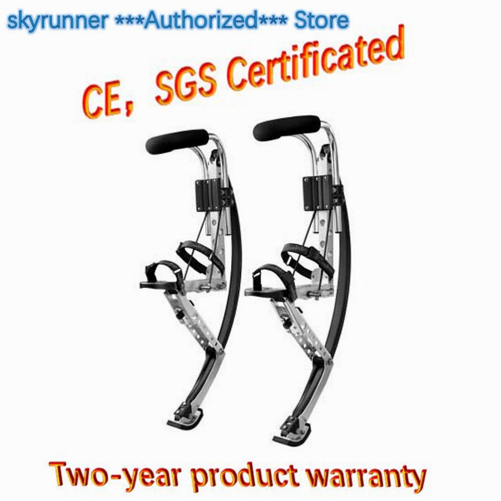 Skyrunner For Adult black Weight: 200~255 lbs/90~110kg Men Jumping Stilts Summer Outdoor Sports