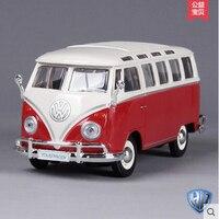 VW Bus T1 Maisto 1 24 Original Alloy Car Models Retro Bus Toy Samba Holiday Gift
