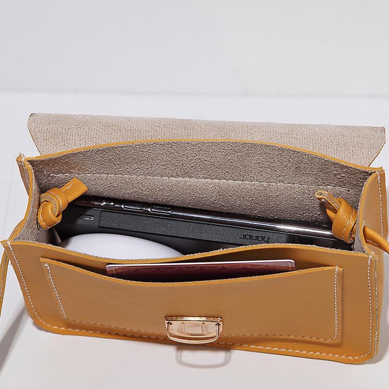 Fashion Small Crossbody Bags for Women 2019 Mini PU Leather Shoulder Messenger Bag for Girl Yellow Bolsas Ladies Phone Purse 9
