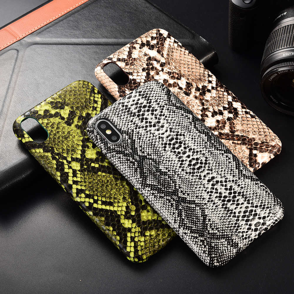Snake Skin PU Leather Cover for iPhone 6 6s Plus 7 7Plus 8 8Plus X XR XS Max Phone Case Crocodile Texture Soft Coque Fundas