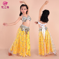 2015 Nw Style Children Belly Dance Costume Set Kid Latest Bellydance Costume 3pcs Suit Indian Children