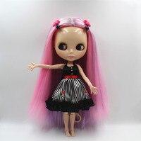 Blygirl Blyth muñeca muñeca Desnuda de Color Rosa Púrpura Mixto Recto Muñeca Órgano Conjunto 19 A Mano Muñecas de BRICOLAJE puede cambiar de maquillaje