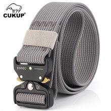 CUKUP Unisex Design Quality Nylon Tactical Military Belts Buckle Male Multi-functional Belt for Men Accessories 125cm CBCK072