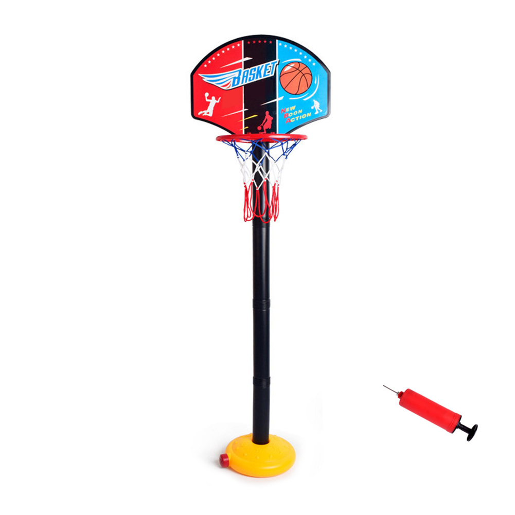 Kids Children Miniature Basketball Hoops Set Stands Adjustable with Inflator Toys Outdoor Sports Accessory FJ88
