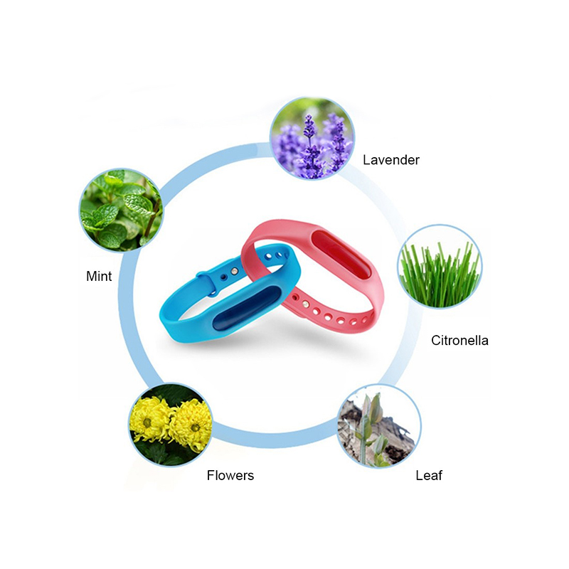 Image 3 - 5Pcs Colorful Environmental Protection Anti Mosquito Repellent Silicone Bracelet Summer Strip Safe for Child Mosquito Killer X-in Repellents from Home & Garden