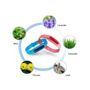 Image 3 - 5Pcs Kleurrijke Milieubescherming Anti Muggen Siliconen Armband Zomer Strip Veilig Voor Kind Muggen Killer