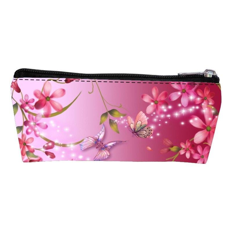 Модные популярные полиэстер печать Европейский Стиль бабочки детские ручки сумки Для женщин портмона подросток ключевой бумажник для маль...