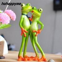 המוצרים חדשים 2017 חדשני Creative שרף צלמית זוג לאהוב מתנות צפרדע חידוש מעניין Creative מוצרים חדשניים