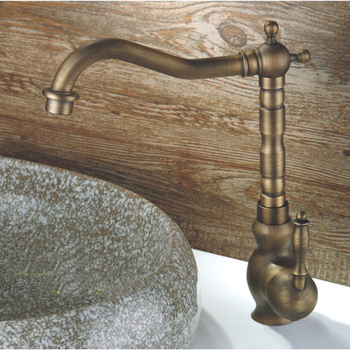 L17296 - Luxury Deck Mounted Bronze Color Brass Material Wash Basin Tap