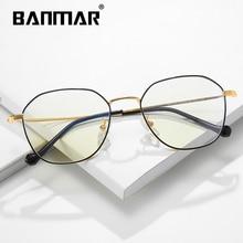 BANMAR Anti Blue Light Glasses Metal Ray Blocking Gaming Goggle Filter Reduce Digital Eye Strain Clear Eyeglasses 1910