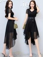 Sweet Fairy Summer 2019 New Popular Women's Dresses Fairy French Minority Chiffon Dresses Summer
