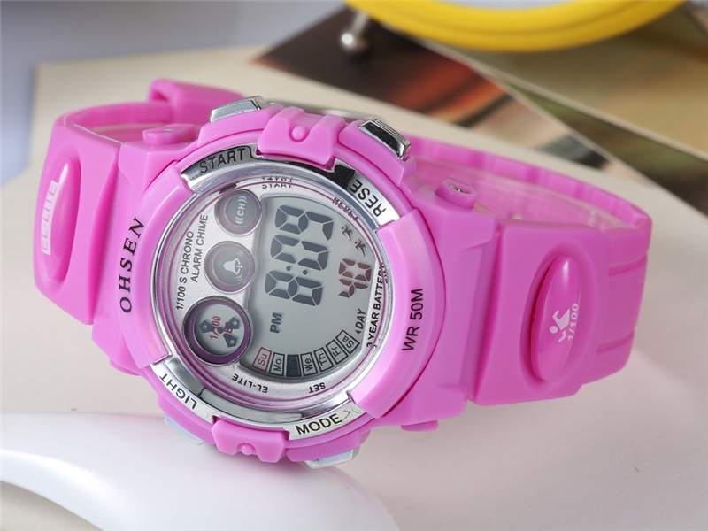OHSEN Fashion Children Sports Watches Waterproof 5ATM Kids LED Digital Watch Student Outdoor Hand Electronic Clock Montre Femme (34)