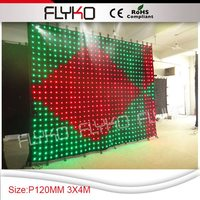 Free shippingevent stage decorations 3m high by 4m wide P120MM LED video curtain