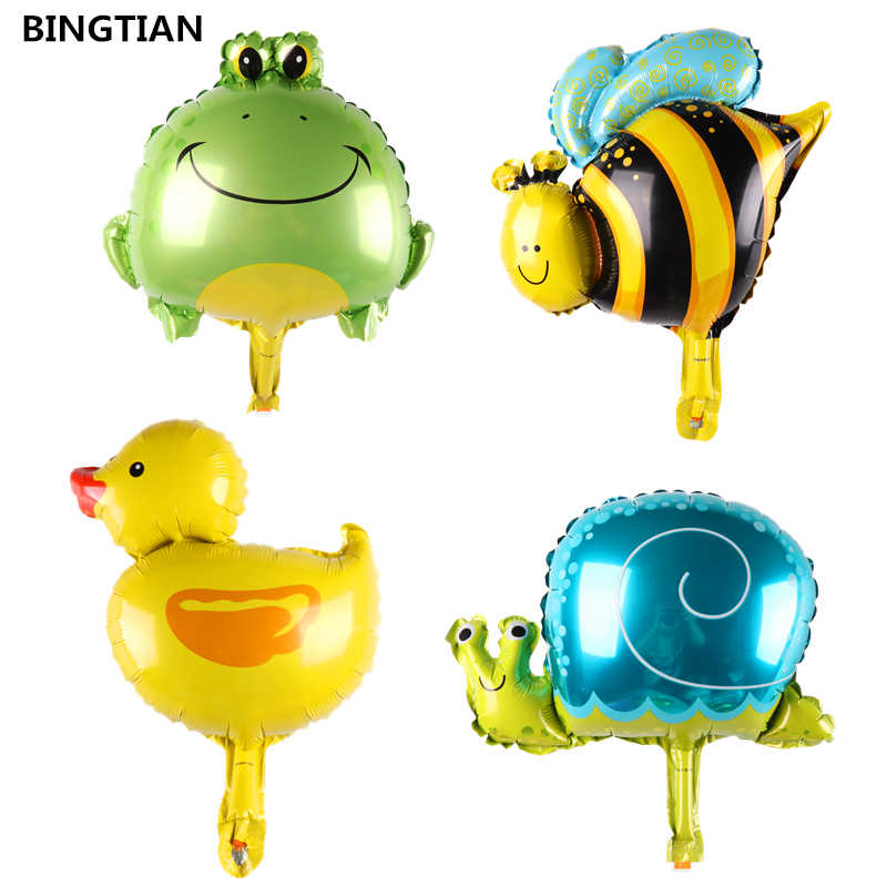 BINGTIAN חילזון ברווז צפרדע דבורה בלוני ראשון מסיבת יום הולדת בלון קישוט צעצוע