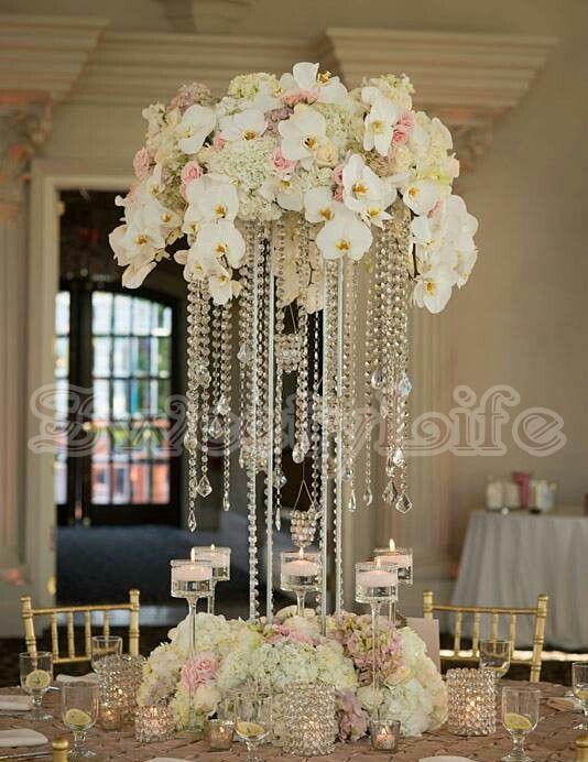 10PCSlot acrylic crystal wedding centerpiece 60cm Tall