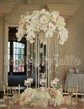10PCS Lot Acrylic Crystal Wedding Centerpiece 60cm Tall Flower StandChina