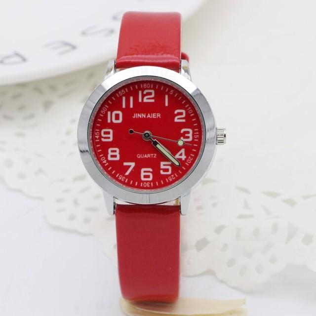 fashion children lovely 6 colors dial leather watch little boys and girls lumino